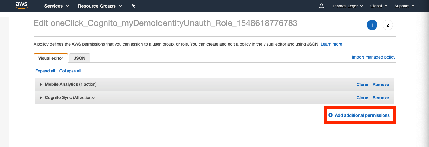 Use Cognito Federated Identities on API Gateway and test